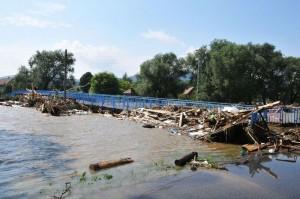 Lávka Hrádek nad Nisou - povodně