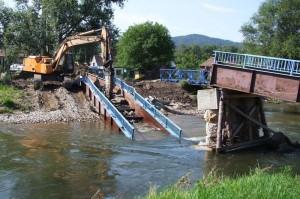 Lávka Hrádek nad Nisou - povodně 2010